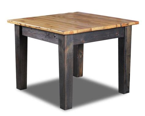 square farm table square farm table made from antique reclaimed wood
