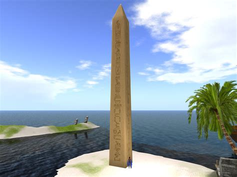 40 meter to second marketplace 1 prim sculpted obelisk 40 meters