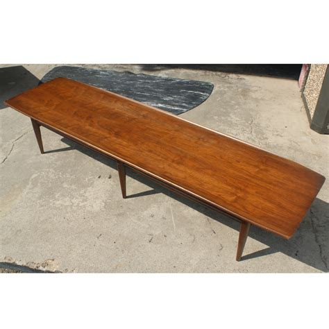 70 quot vintage walnut coffee table ebay