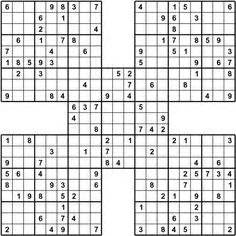 Printable Ultimate Sudoku | 1000 images about sudoku puzzle on pinterest sudoku