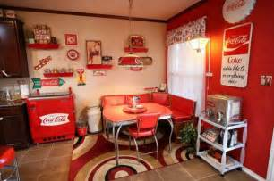 coca cola themed kitchen home diner