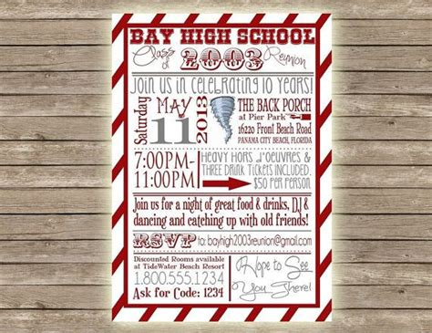 high school reunion invitation template 1000 ideas about class reunion invitations on