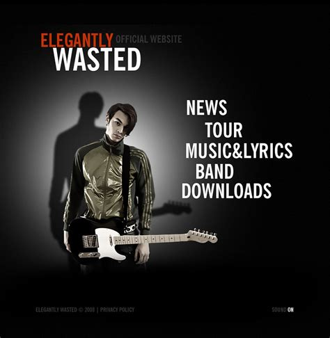 music band flash template web design templates website