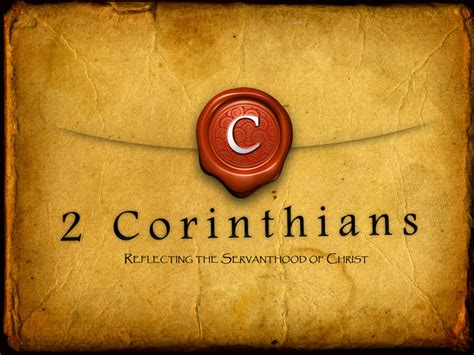2 corinthians sermon series commentary on 2 corinthians 1 16 2 5
