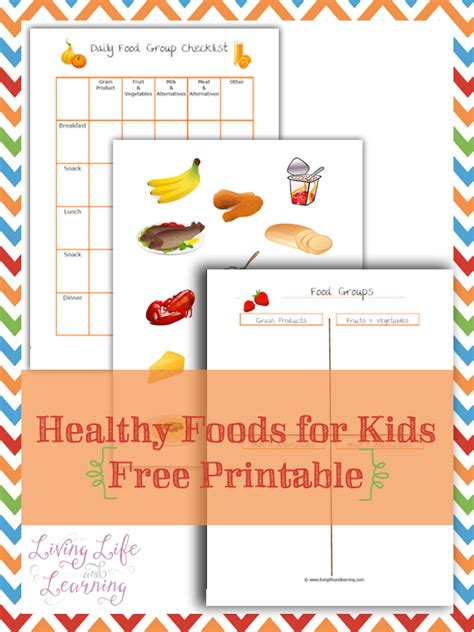 printable recipes for healthy eating free healthy food printables for kids pack free