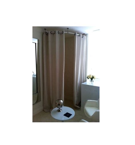 changing curtain rounded curtain rod for changing room boutique decor