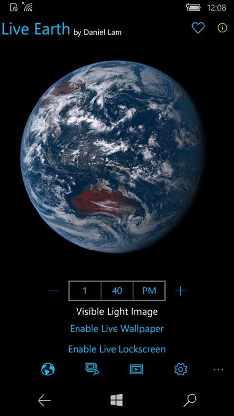 live earth live wallpaper do planeta terra em tempo real no windows