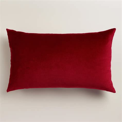 Back Pillows by Classic Velvet Lumbar Pillow World Market