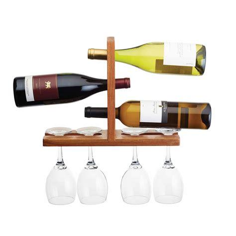 Wall Mount Wine Glass Rack by Acacia Wall Mounted Wine And Glass Rack Drinkstuff