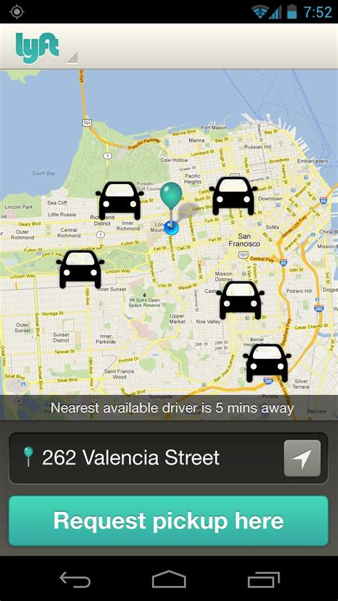 lyft android official lyft app now available for android brings on demand ridesharing to san francisco