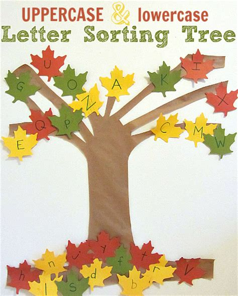 tree activities letter sorting tree alphabet activity