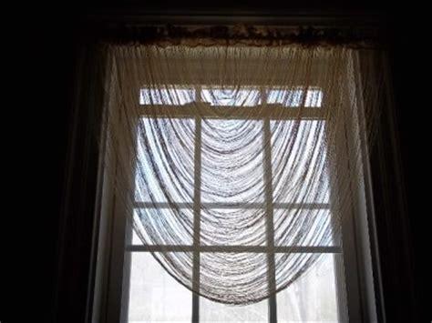 Cascading Window Valances Gold Lace Fringe Cascade Valance Swag Window Treatment