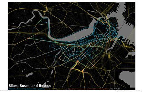 hubway map mbta boston bikes visualization bostonography