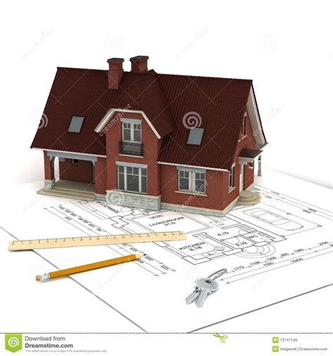 house projects free house with project and keys royalty free stock images