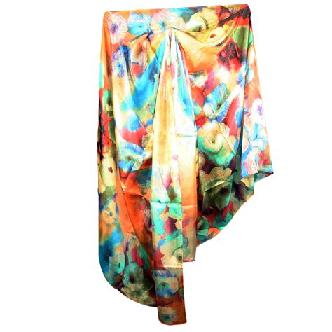 tachyonized large silk scarf tachyon energy products
