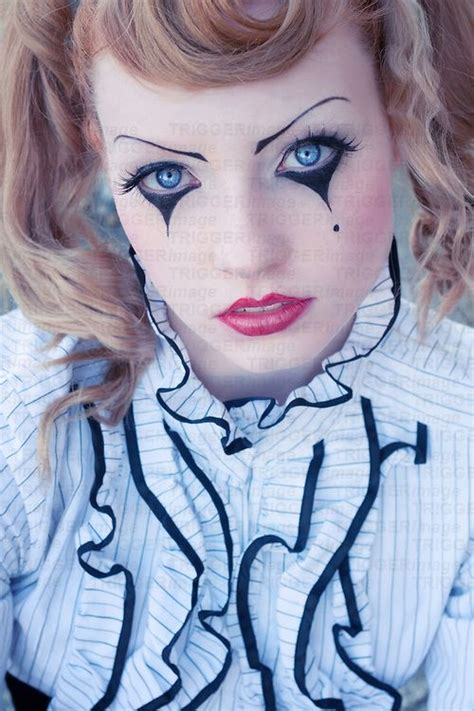 whats up with ann aldridge face sexy gothic clown makeup young red head female with