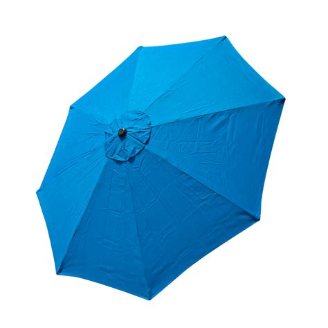 Replacement Patio Umbrella Replacement Cover Canopy 9 Ft 8 Ribs Umbrella Blue Top Patio Market Outdoor