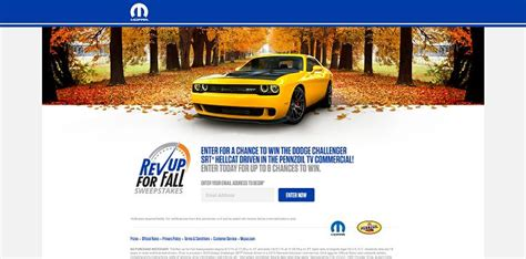 Fall Sweepstakes - hellcat sweepstakes autos post
