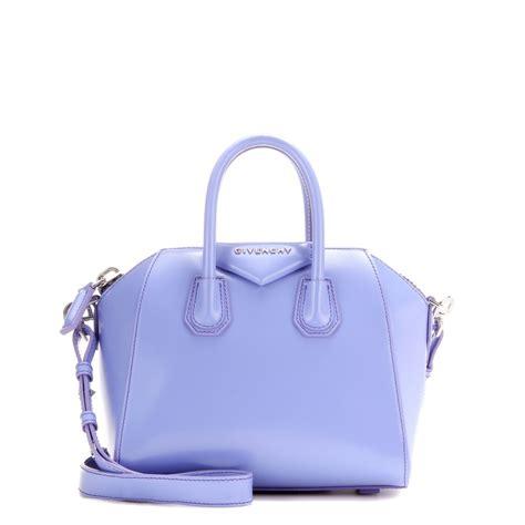 Givenchy Antigona Mini Bag lyst givenchy antigona mini leather shoulder bag in purple