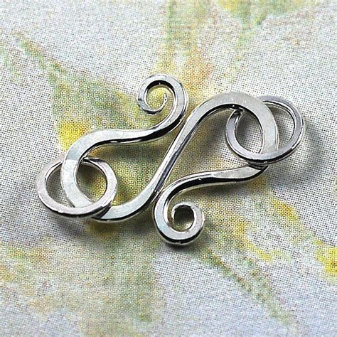 Handmade Clasps - handmade sterling silver s hook clasps with jumprings 18