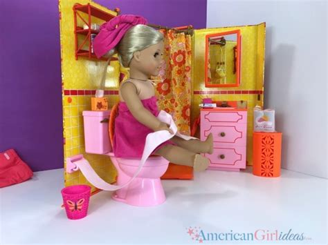 american girl doll bathroom american girl julie s bathroom set review american girl