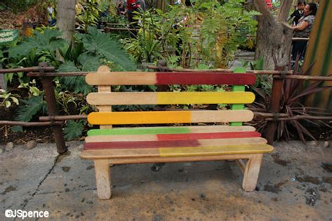 popsicle stick bench disney california adventure part three of six the world