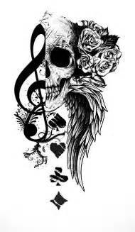 music and playing cards tattoo tattoo com