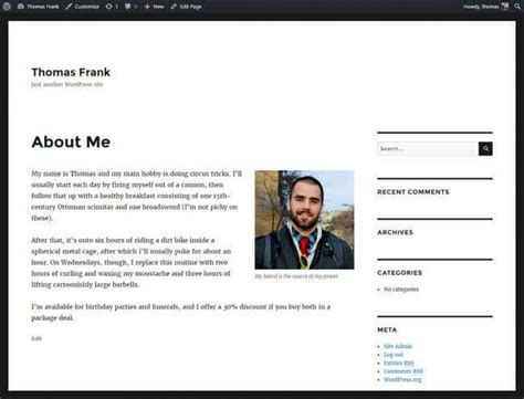 funny about me sections the ultimate guide to building a personal website