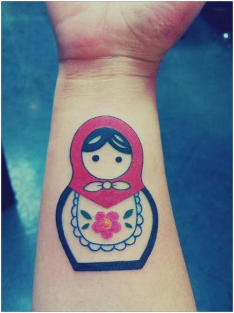 matryoshka tattoo matryoshka russian nesting doll forearm