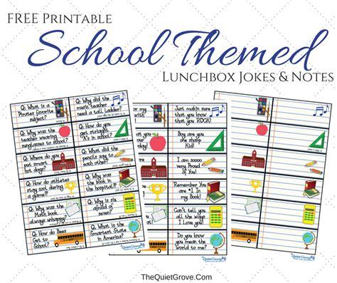 printable school jokes school themed printable lunchbox jokes and notes for kids