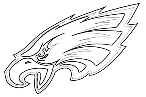 nfl eagles coloring pages philadelphia eagles logo coloring coloring pages