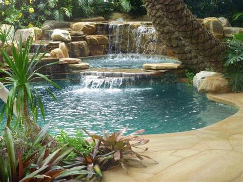 backyard pools with waterfalls 75 relaxing garden and backyard waterfalls digsdigs