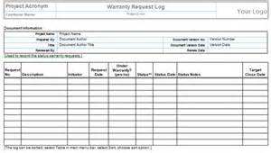 Quality Log Template by Quality Templates Project Management Templates