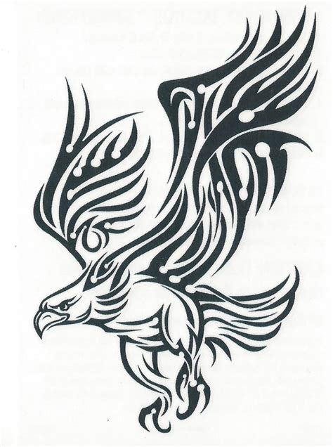 mexican eagle tribal tattoo mexican eagle tribal cliparts co