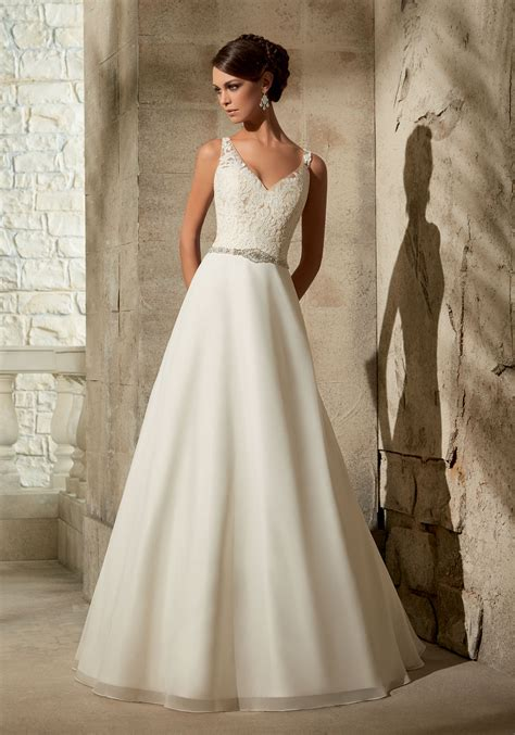 A Line Wedding Gowns by Chiffon With Beading Wedding Dress Style 5308