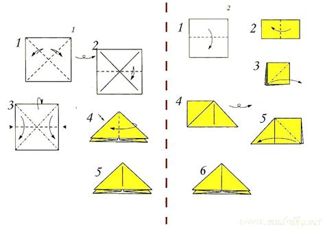 triangle origami the basic form of the quot triangle quot