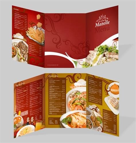 design a menu template 40 beautiful restaurant menu templates and designs