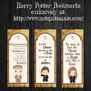 free printable harry potter bookmarks not quite susie