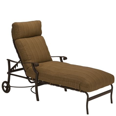 Patio Chairs With Casters Montreux Cushion Chaise Lounge With Wheels Tropitone