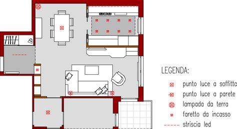punti luce soggiorno progetto 40 mq architettura a domicilio 174