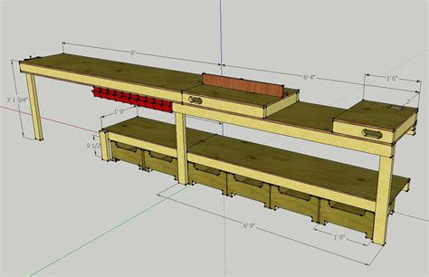 workshop bench plans callsign ktf plans for a custom garage workbench