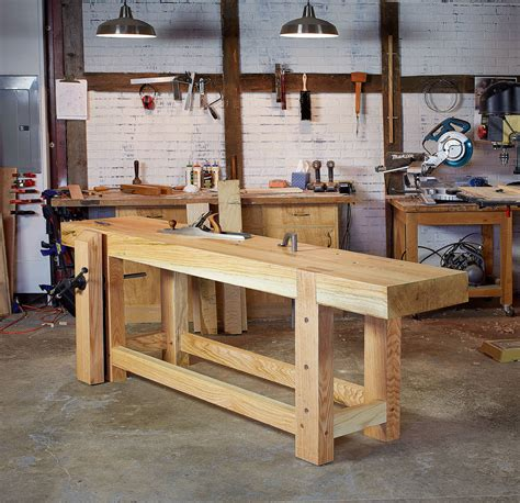 used woodworking bench work with workbench tops lost press