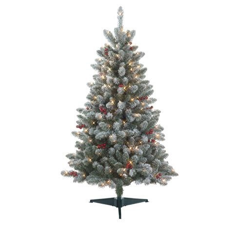 kmart christmas trees pre lit 4 5 pre lit redwood pine flocked spruce tree kmart