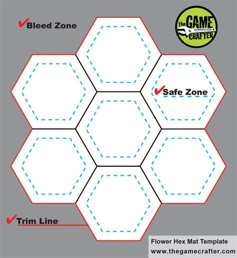 hex hex card template flower mat