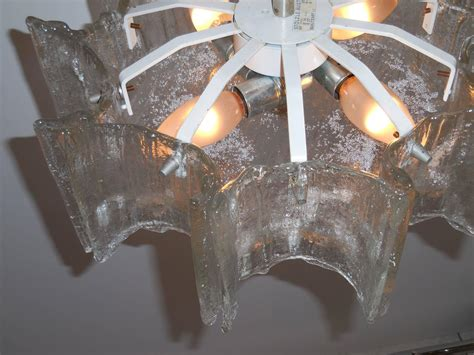 Funky Chandeliers For Sale funky texture glass vintage chandelier for sale at 1stdibs