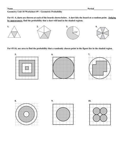 geometric probability worksheet geersc worksheet geometric probability worksheet worksheet
