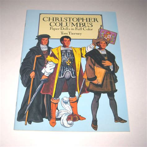 christopher columbus picture book christopher columbus paper dolls vintage paper doll book