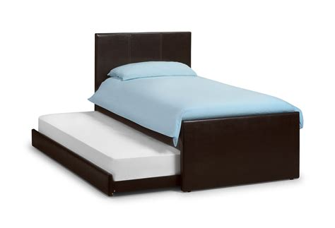 buy collection cosmo 3ft single leather guest bed