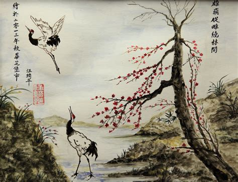 china painting watercolor in painting style lucia wong artwork