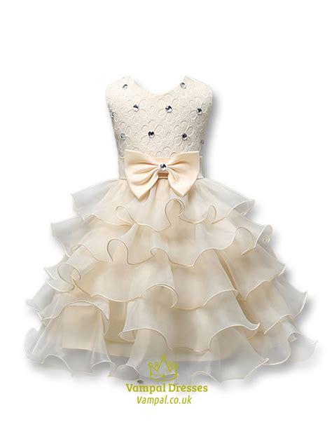beaded flower dress white beaded gown flower dress with rhinestones